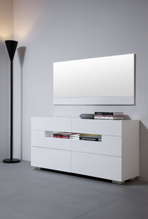 Modrest Ceres - Modern LED White Lacquer Dresser