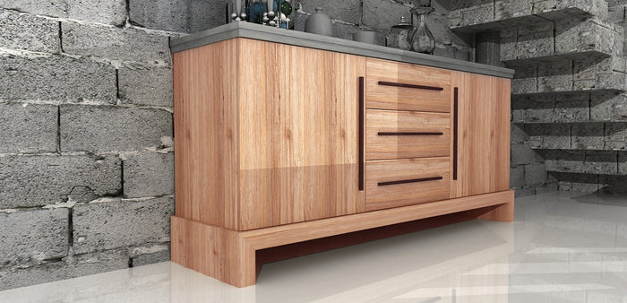 Modrest Civic Modern Concrete & Acacia Buffet