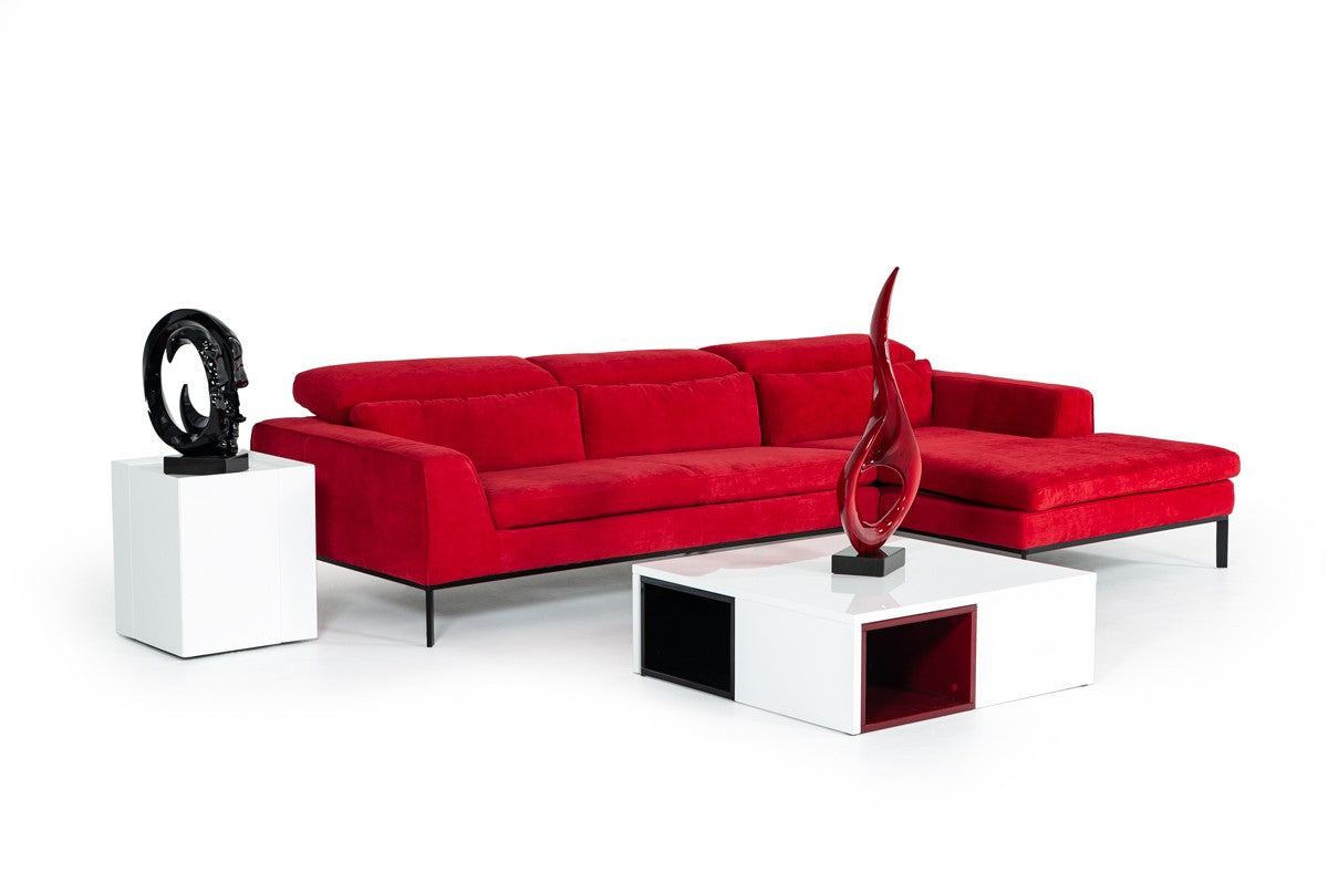 Red Sectional Sofa With Chaise ...