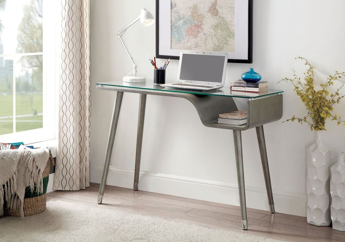 Furniture of America Holger Gray Desk
