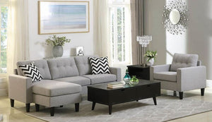Coaster Furniture Reversible Fabric Sectional Sofa
