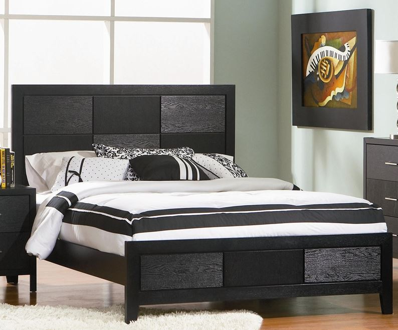 Coaster Grove Panel Bed In Black Finish