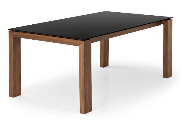 Connubia Calligaris CB/4069-LV 180 Sigma Glass Extending Dining Table