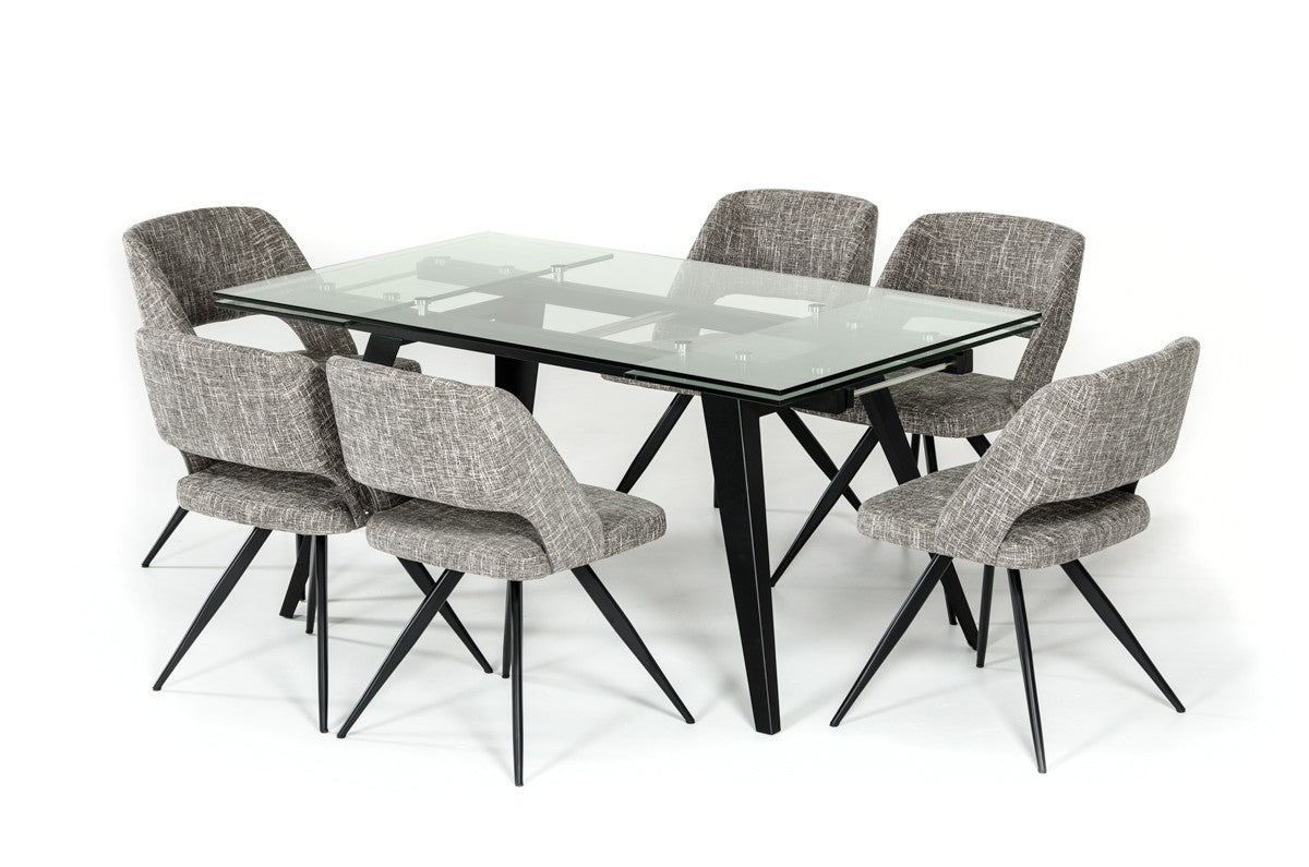 Picture of: Modrest Glasgow Contemporary Extendable Glass Dining Table