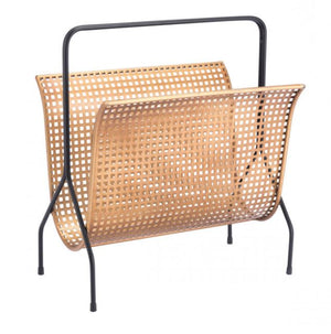 Zuo Modern Dotted Magazine Rack Gold