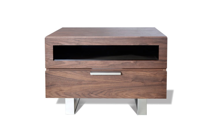 Modrest Dylan Modern Walnut Nightstand