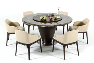 Modrest Margot - Modern Cream Eco-Leather Dining Chair