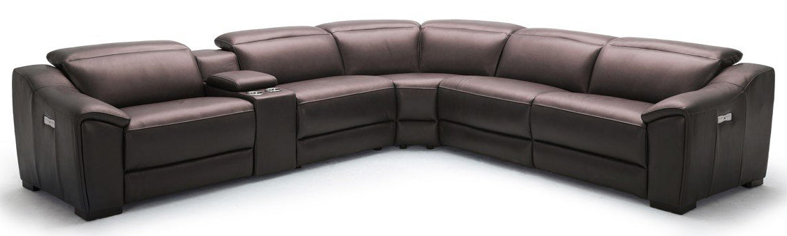 Divani Casa Gentry Eco Leather Sectional Sofa with Recliners