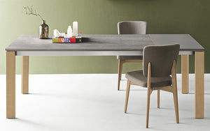 Eminence Fast Dining Table with side folding leaf in the same finish as the Top