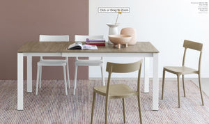 Eminence Melamine Wood Dining Table w one Extension