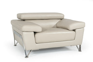 Divani Casa Encore - Modern Grey Leather Sofa Set