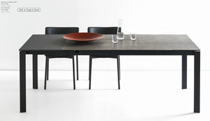 Eminence Ceramic Dining Table w one Extension