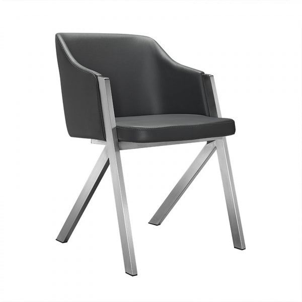 Gray Leatherette Dining Chairs