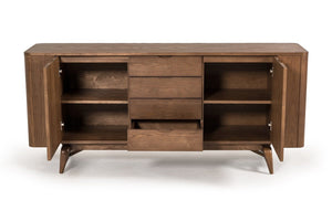 Modrest Fallon Modern Solid Wood Walnut Sideboard