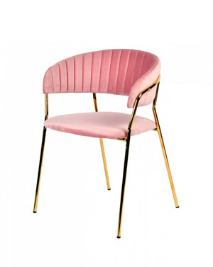 Pink Fabric Dining Chair