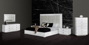 A&X Victoria Modern White Crocodile Bedroom Set