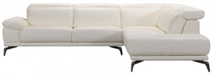 Divani Casa Tundra Modern White Leather Right Facing Sectional Sofa
