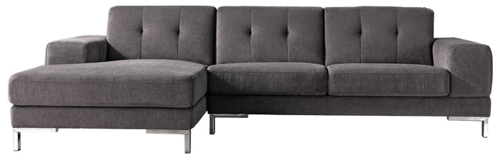 Divani Casa Forli - Fabric Sectional Sofa with Left Chaise