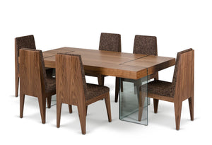 Aura - Contemporary Walnut Floating Dining Table
