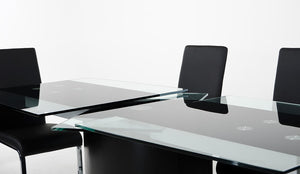 Modrest Remix Modern Extendable Glass Dining Table
