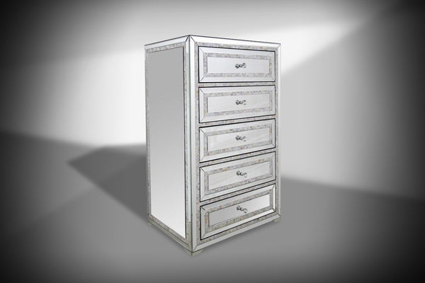 Modrest Mirabelle Mirrored Bedroom Chest of Drawers