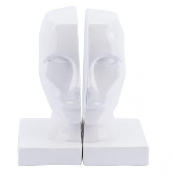 Zuo Modern Face Bookends White
