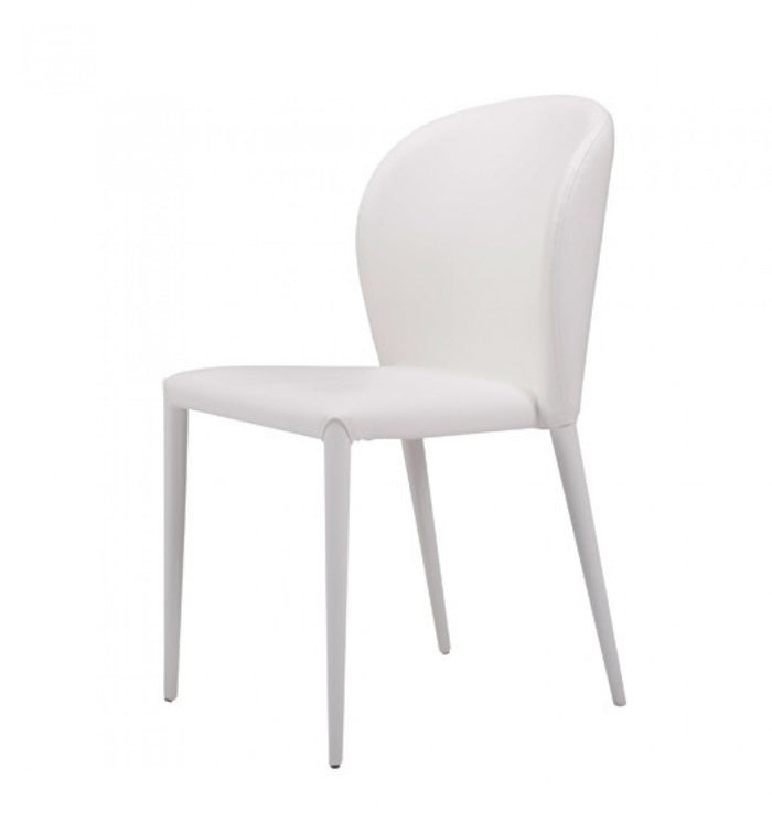 Modrest Maggie Modern White Leather Dining Room Chairs (Set of 2)