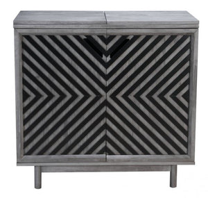 Zuo Modern Raven Bar Unit Old Gray