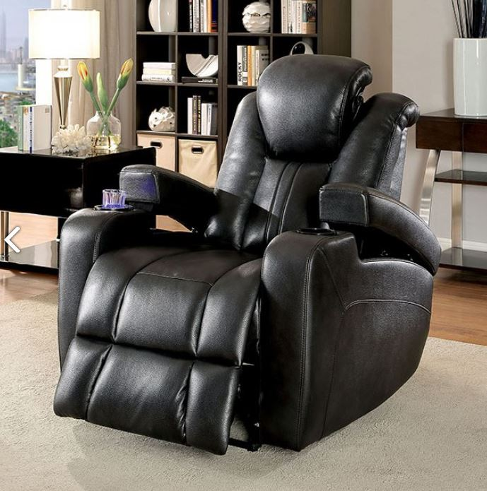 Surprising Furniture Of America Zaurak Power Recliner Chair Bralicious Painted Fabric Chair Ideas Braliciousco