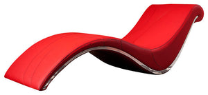 Divani Casa Essen Modern Red Leather Leisure Lounge Chaise