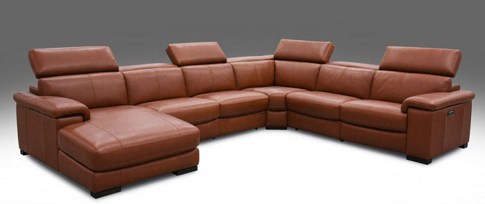 HTL Leather Power Recliner W/ Power Headrests 6 Piece Sectional Sofa  RS 13325 PR * (CURRENTLY ON SHOWROOM FLOOR)
