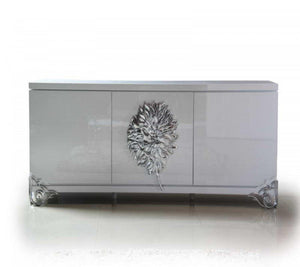 White lacquer buffet cabinet