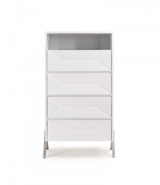Modrest Candid Modern White High Gloss Chest of Drawers