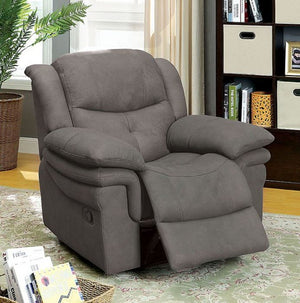 Furniture Of America Jaden GRAPHITE Fabric RECLINER CHAIR