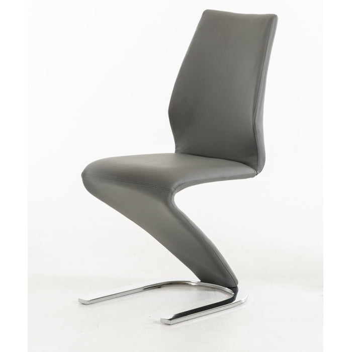 Penn Modern Grey Leatherette Dining Chair (Set of 2)