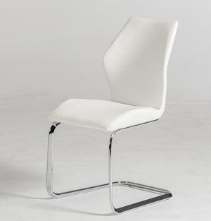Welles - Modern White Leatherette Dining Chair (Set of 2)