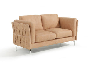Estro Salotti Jenny Modern Terra Italian Leather Sofa Set