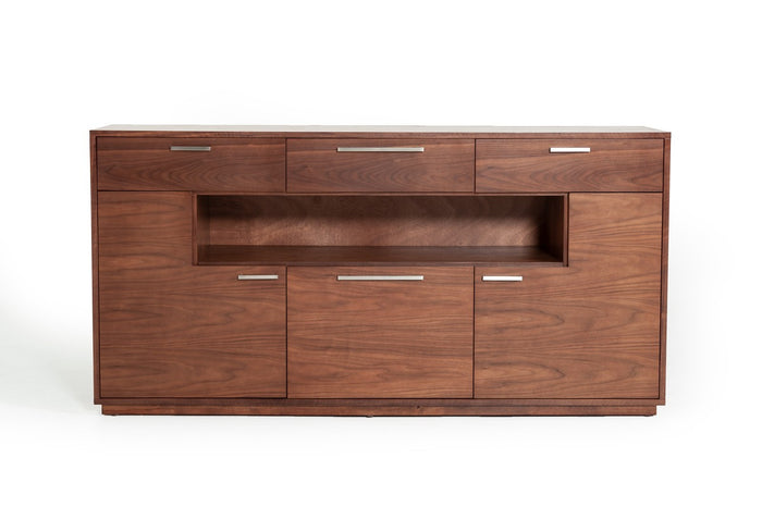 Modrest Jett Contemporary Walnut Sideboard Cabinet