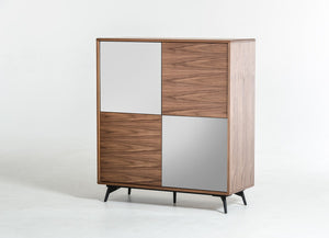White and Walnut Sideboard