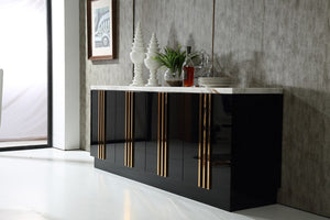 Black High Gloss Sideboard