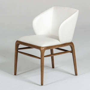 Walnut arm dining chair