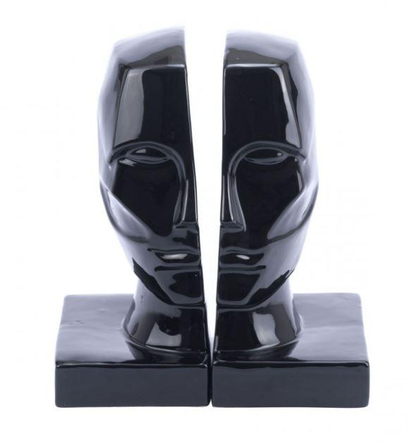 Zuo Modern Face Bookends Black