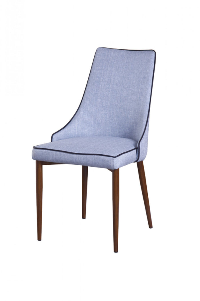 Modrest Lenora Modern Blue Armless Dining Room Chair