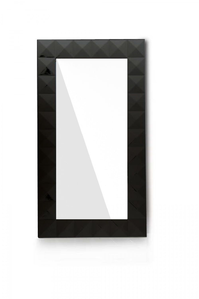 Versus Eva Modern Gloss Finish Black Floor Length Mirror