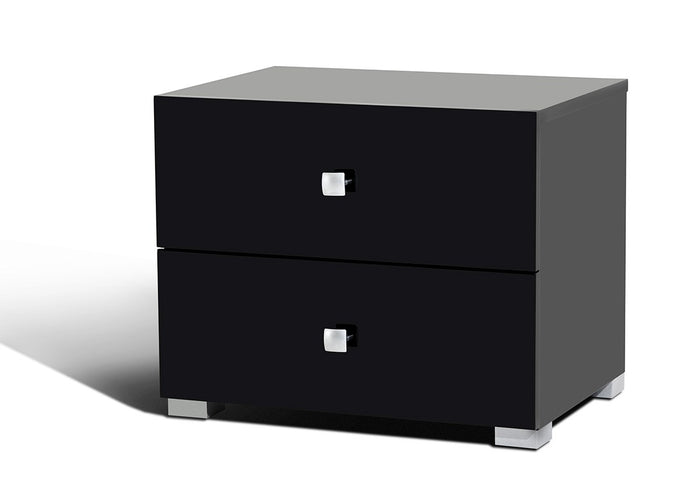Modrest Lyrica Black Modern Nightstand