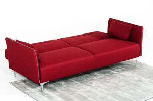 Divani Casa Davenport - Modern Red Fabric Sofa Bed