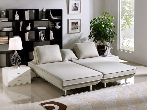 Divani Casa Radford Modern Grey Fabric Sofa Bed Set
