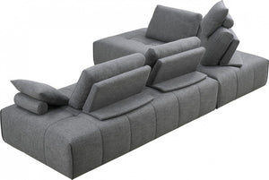 Divani Casa Edgar Modern Grey Fabric Modular Sectional Sofa