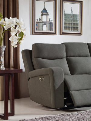 Divani Casa Shaw Modern Grey Fabric Power Reclining Sofa Set