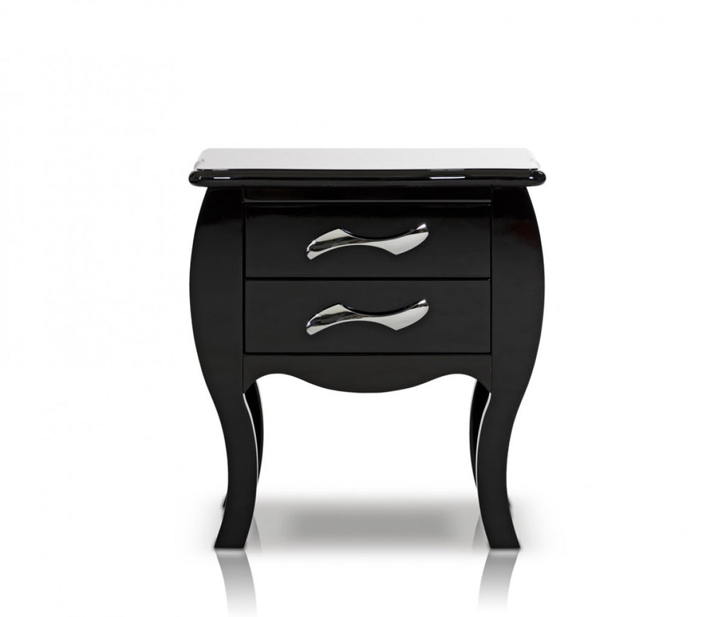 Modrest Monte Carlo Black Nightstand & Furniture